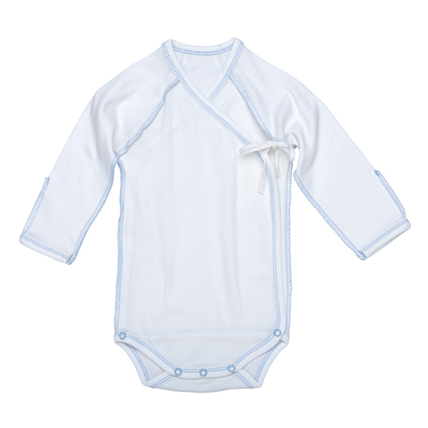 Inside-Out Bodysuit – Off-White w_ Blue