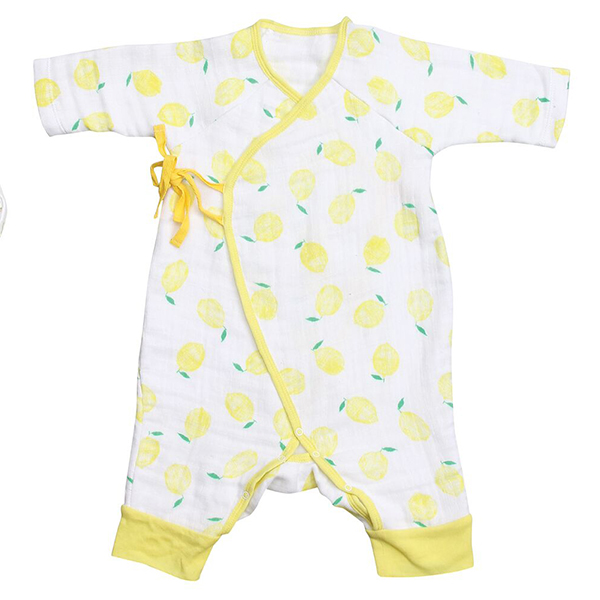 Lemon Muslin Wrap Coverall Back