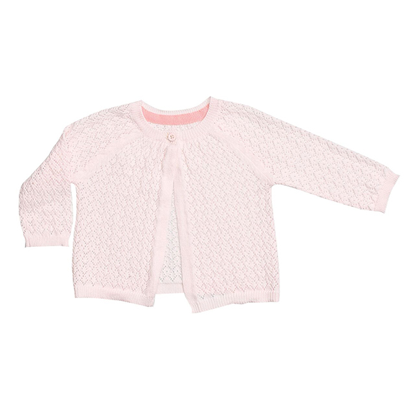 Pointelle Cardigan Pale Pink