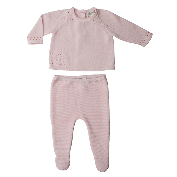 Pointelle Knit 2pc Pink