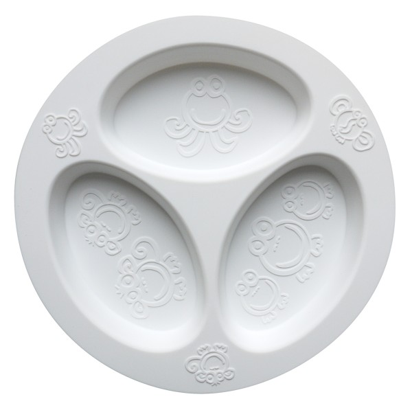 Divided Plate White