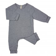Raw Edge Romper Grey