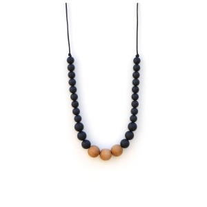 LoulouLollipopNecklaceWoodBlack
