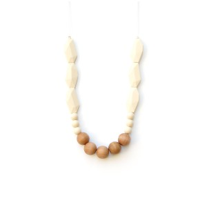 LoulouLollipopNecklaceWoodJoanBeigeCream