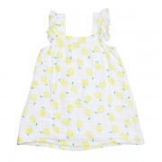 Lemon Muslin Sundress Back