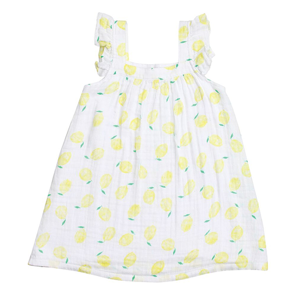 Lemon Muslin Sundress Front