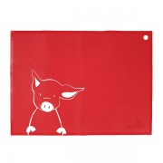 Placemat Red Piglet