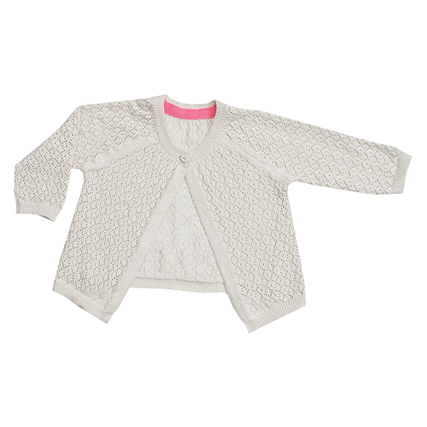 Pointelle Cardigan Coral