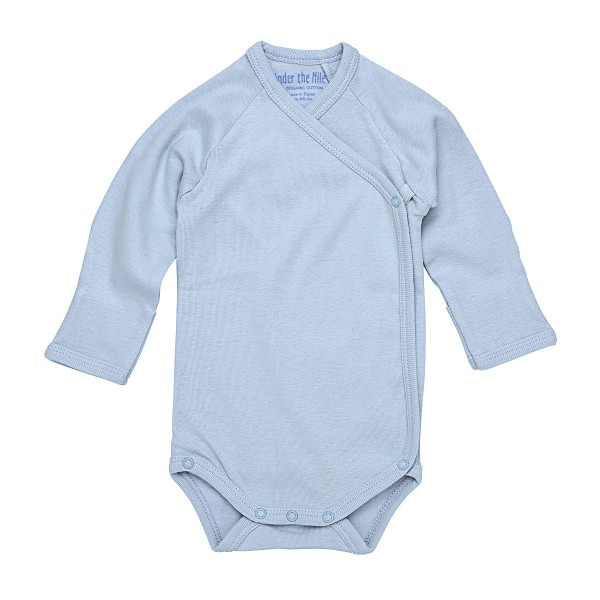 Side-Snap Bodysuit Ice Blue