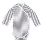 Side-Snap Bodysuit Tan Stripe