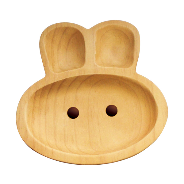 Wood Plate Rabbit