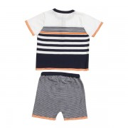 Nautical Henley Top & Shorts Back