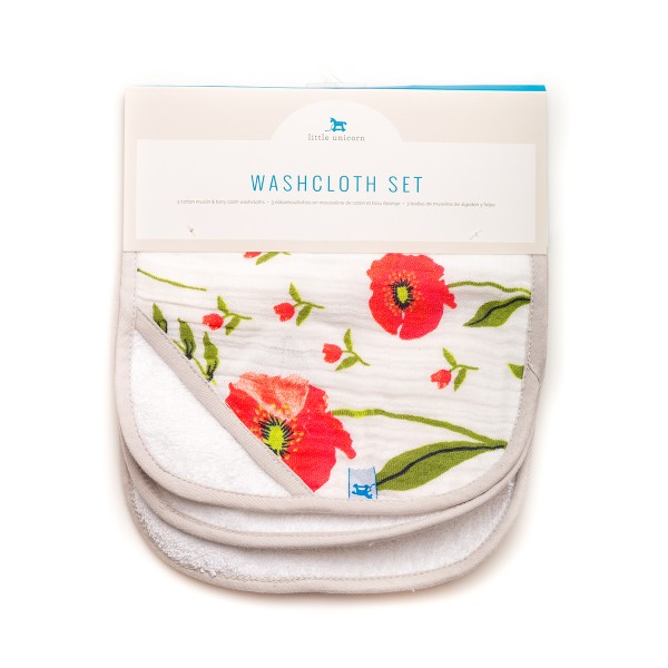 Washcloth Summer Poppy
