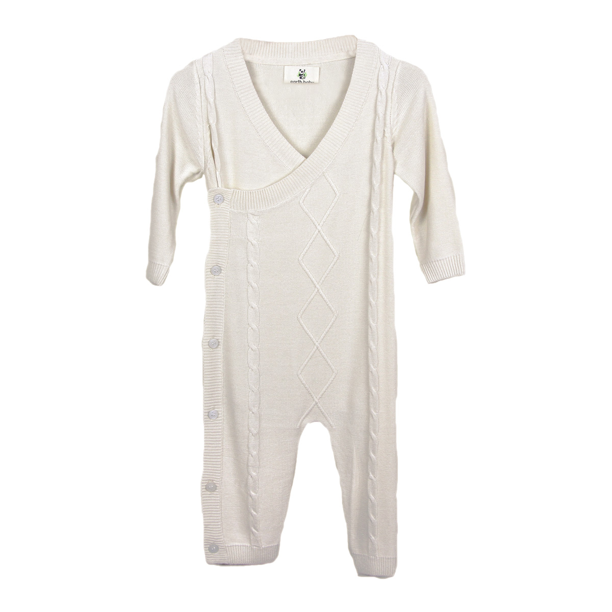 087750f1348c earth baby OUTFITTERS Knit Bamboo Classic Romper - TheTot