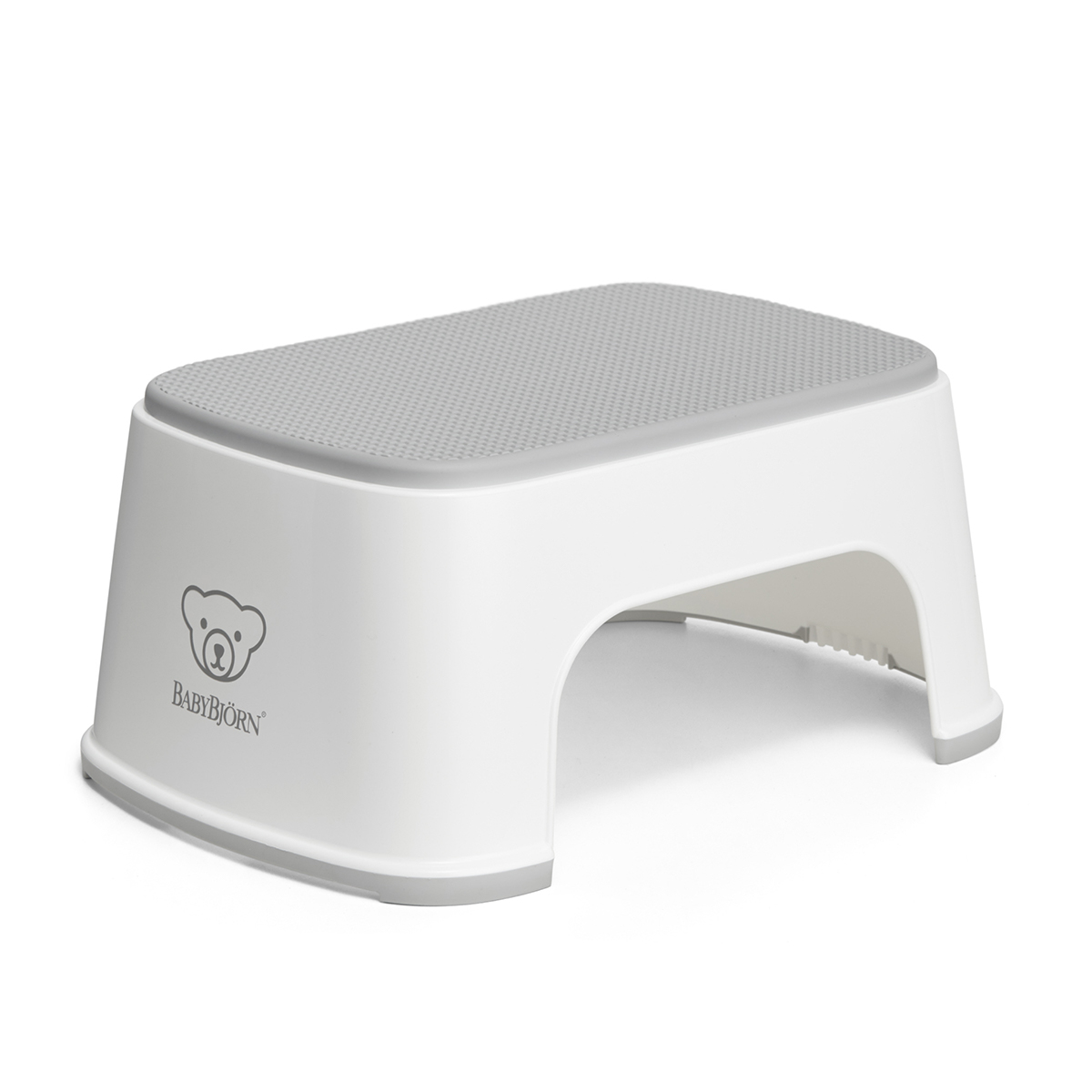 Baby Bjorn Step Stool White with Grey