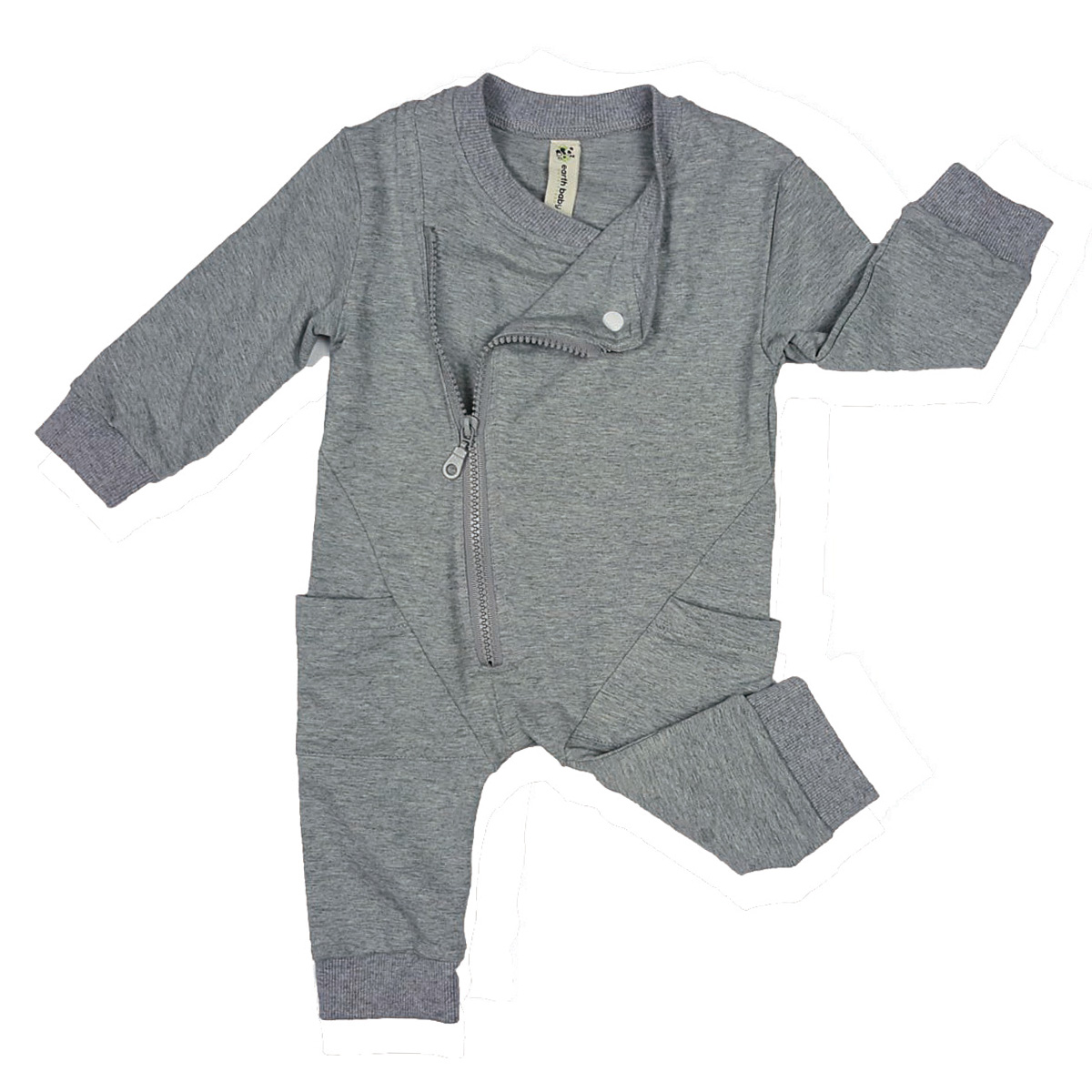 beb65eacba36 earth baby OUTFITTERS Organic Cotton Biker Romper - TheTot