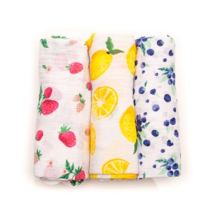 Little Unicorn Three Pack Cotton Muslin Swaddles