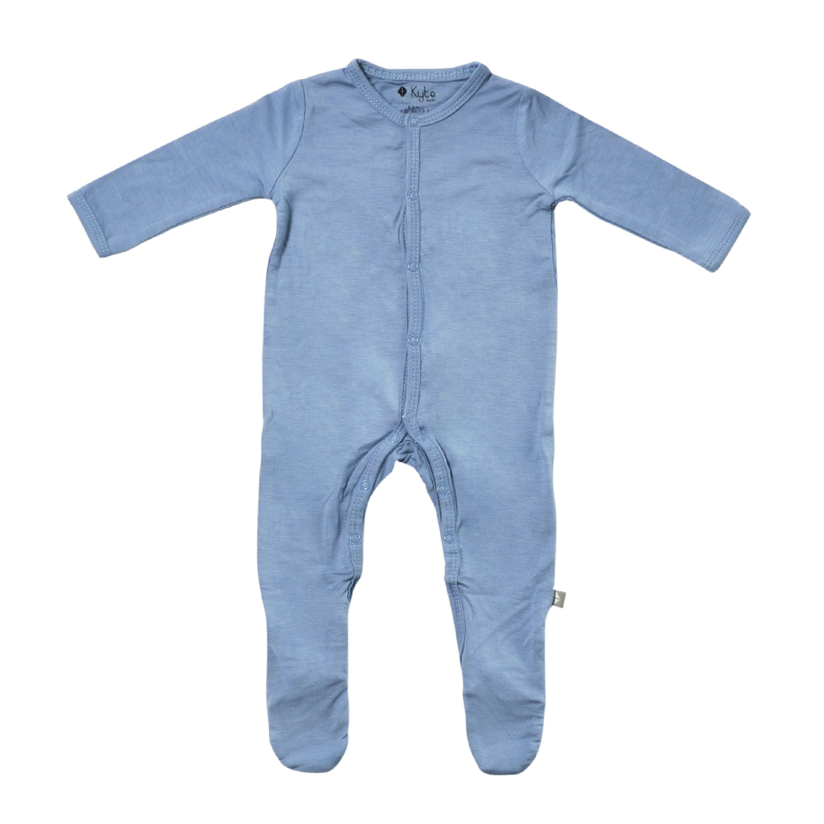 0-24 Months KYTE BABY Footies Baby Footed Pajamas Made of Soft Organic Bamboo Material Solid Colors
