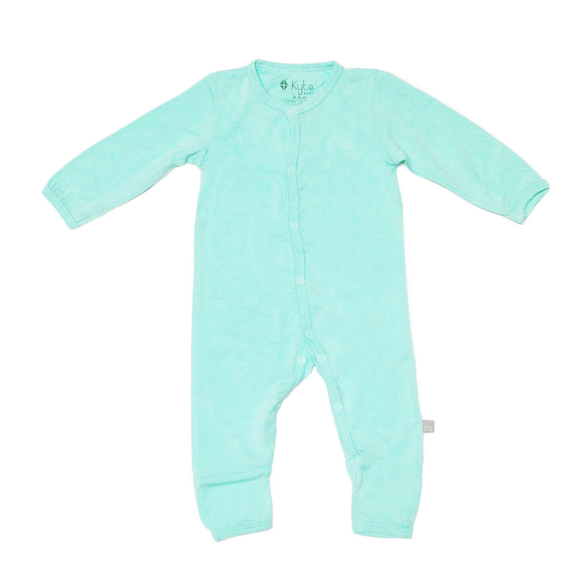 Kyte Baby Rayon from Bamboo Long Sleeve Footless Romper in Aqua