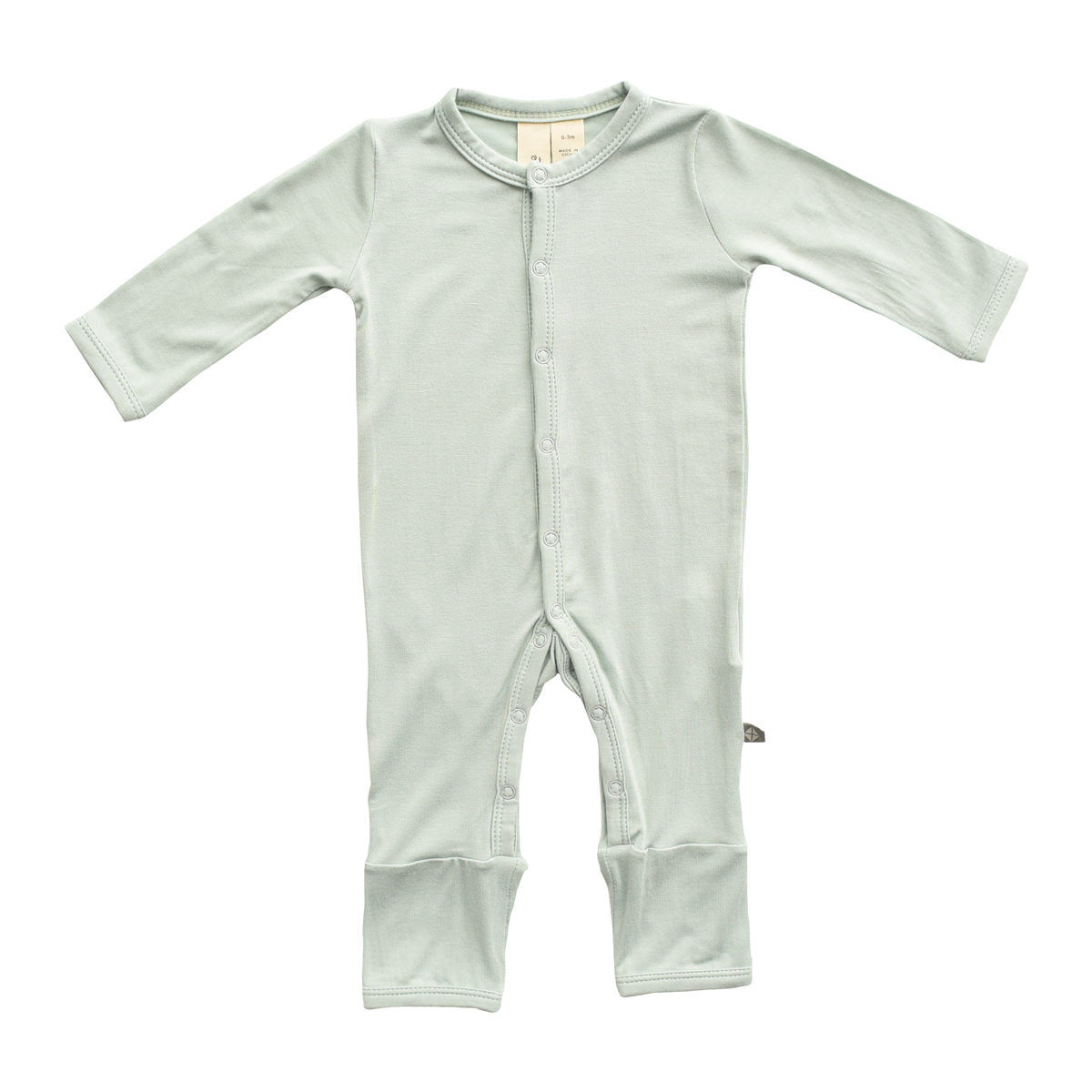 Kyte Baby Rayon from Bamboo Long Sleeve Footless Romper in Sage