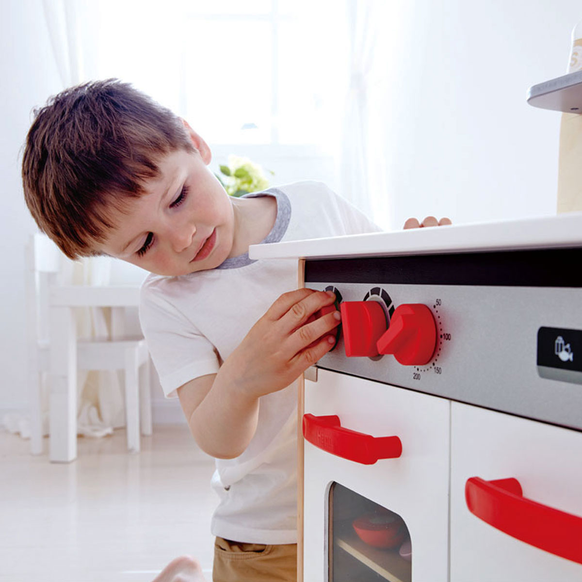 Hape Wooden Gourmet Play Kitchen with kids