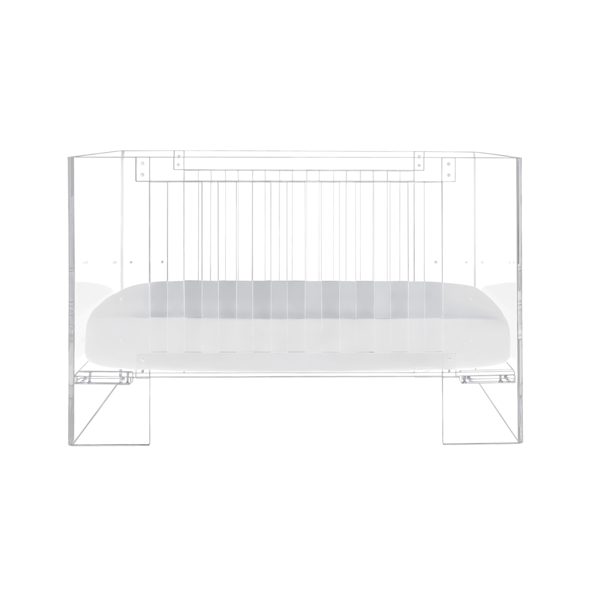 Nursery Works Vetro Crib Lucite Clear Baby Crib The Tot