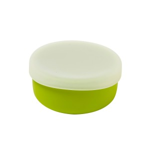 Modern-Twist Silicone Bowl and Lid - green