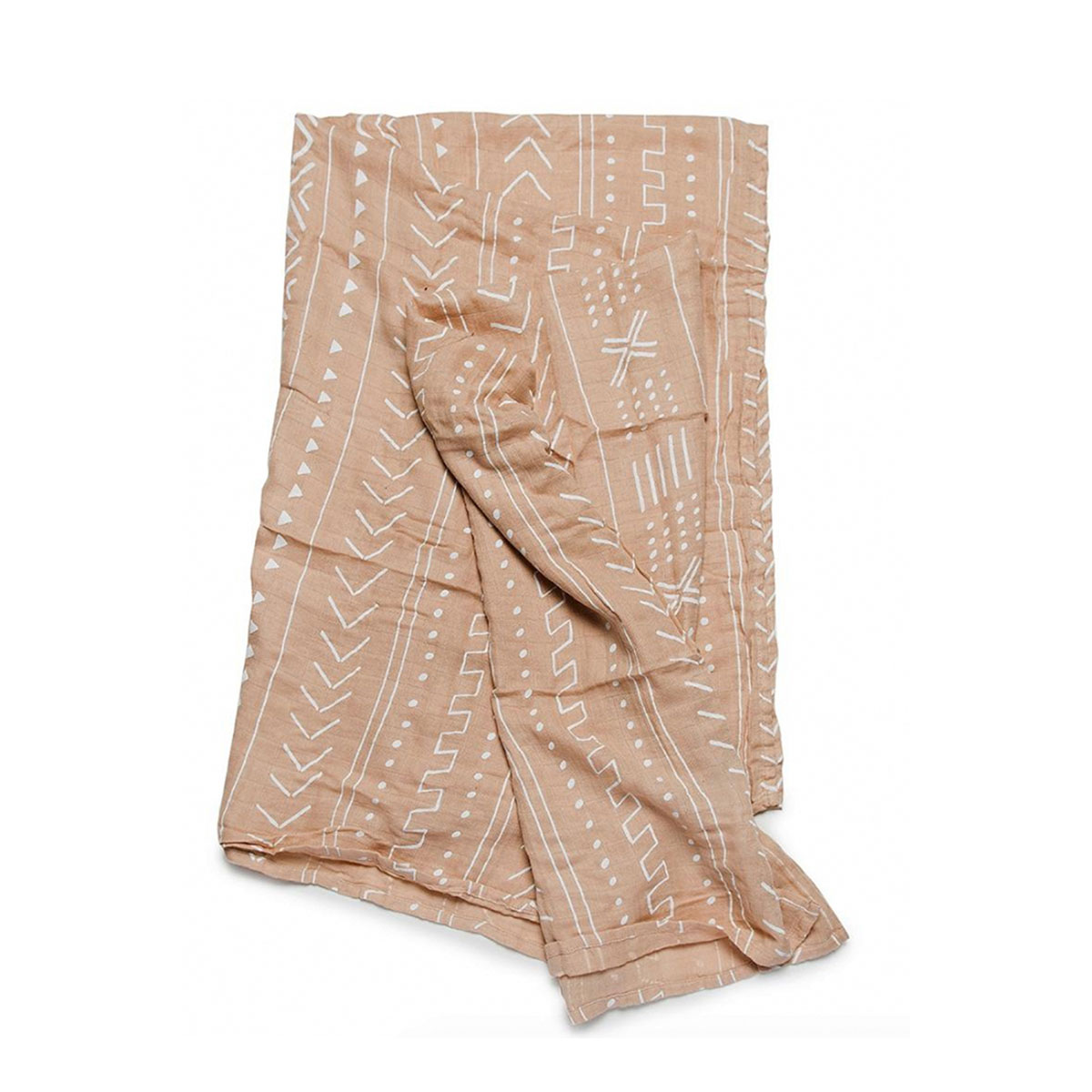 Loulou Lollipop Bamboo Swaddle in Almond Mudcloth