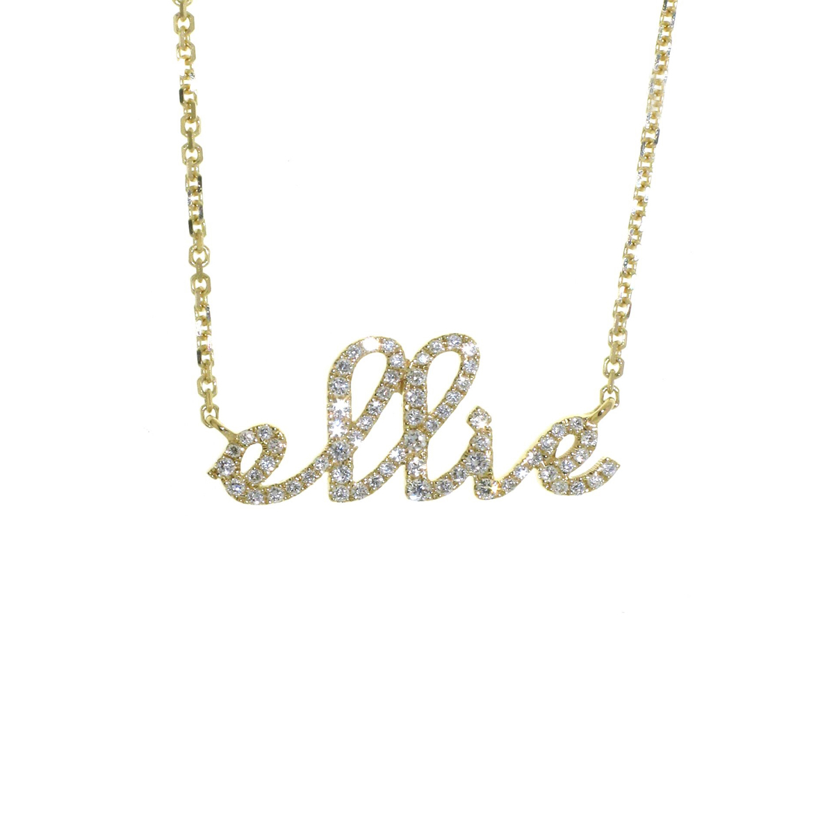Sue gragg personalized diamond name necklace