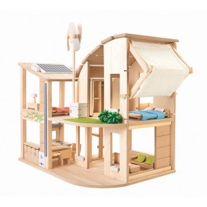 Plan Toys Green Doll House Set