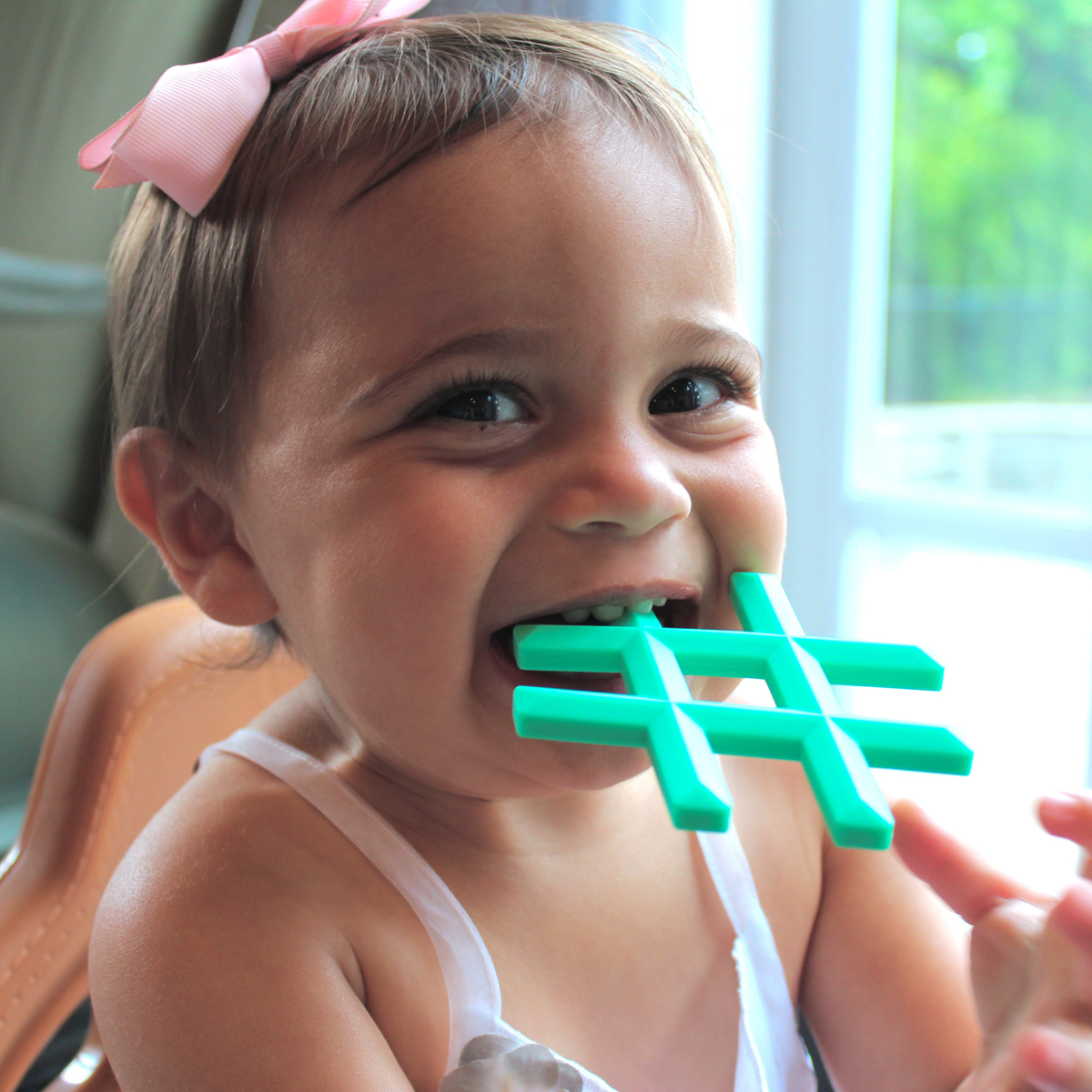 Little Standout Hashtag Silicone Teether