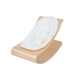 Bloom Coco Stylewood Bouncer with Organic Seat pad