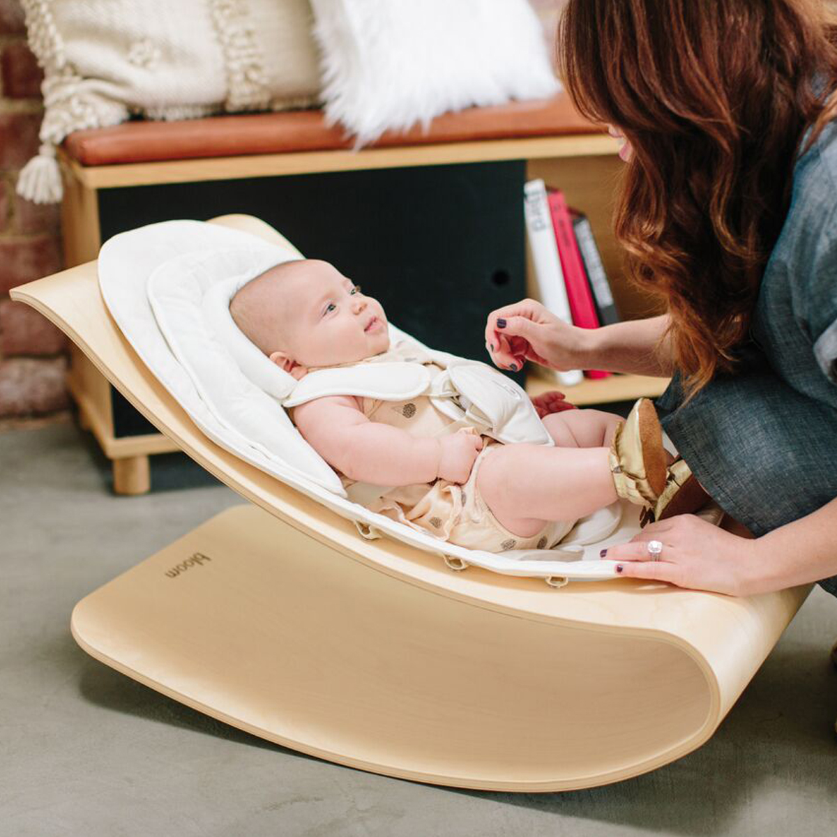Bloom Natural Wood Bouncer