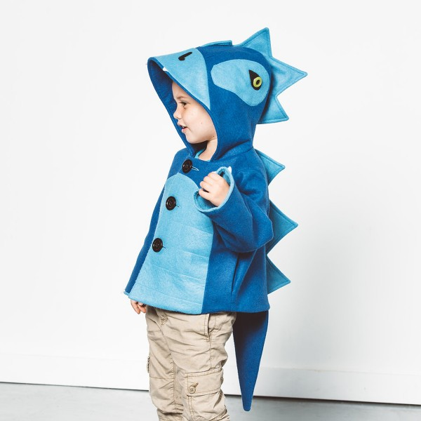 LittleGoodallDinoCoatBlue