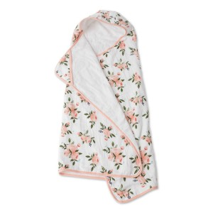 Little Unicorn Hooded Towel Set New Watercolor Roses