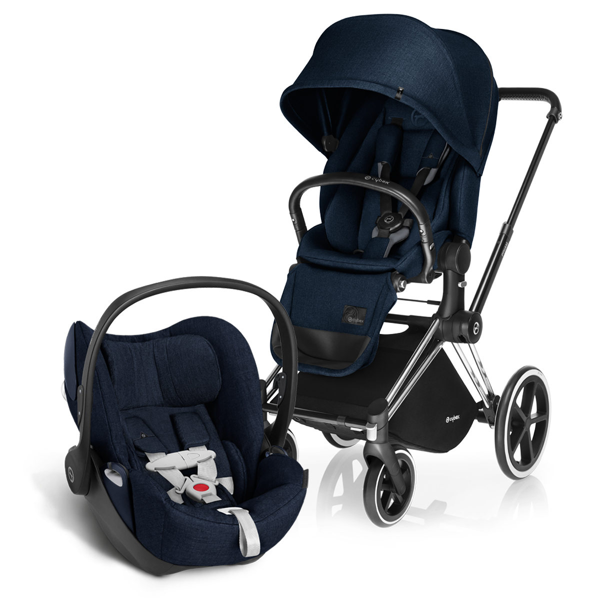 cybex priam lux stroller midnight blue thetot. Black Bedroom Furniture Sets. Home Design Ideas