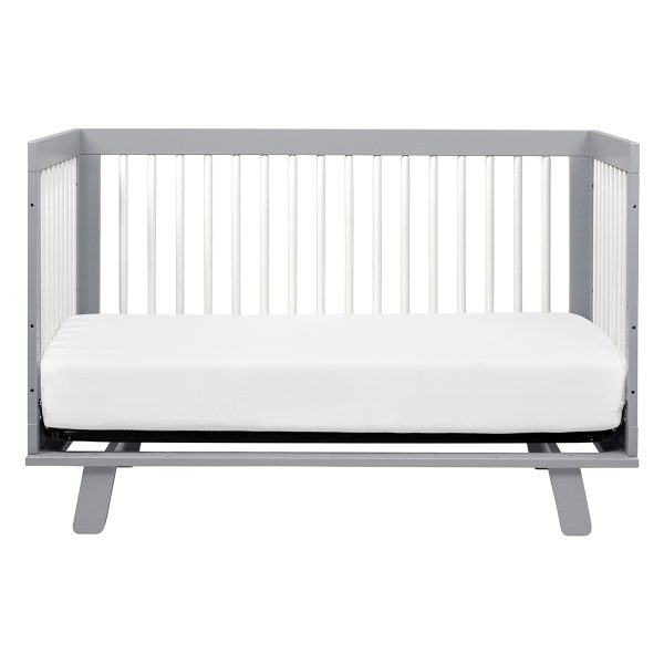 Baby Letto Hudson 3-in-1 Convertible Crib Grey/White AW19