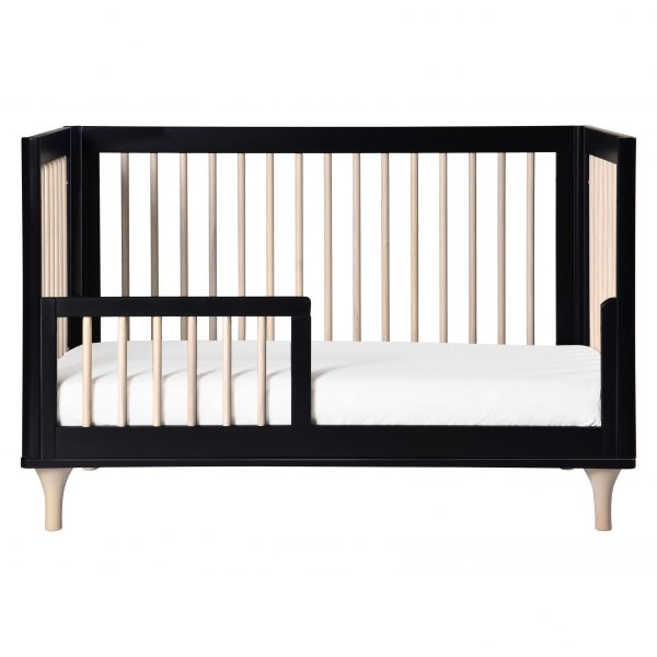 Babyletto Lolly 3-in1 Convertible Crib Toddler Bed Conversion Black+Natural AW19