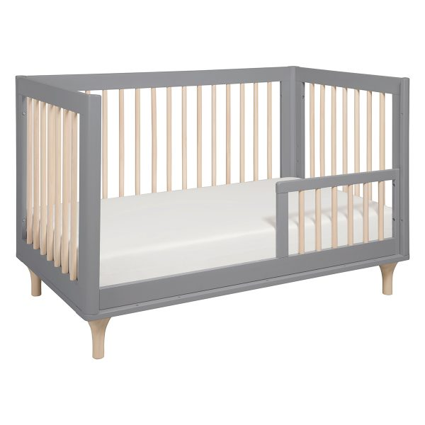 Babyletto Lolly 3-in-1 Convertible Crib Toddler Bed Conversion Grey and Washed Natural AW19