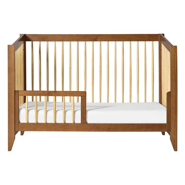Babyletto Sprout Convertible Crib + Toddler Bed Chestnut and Natural AW19