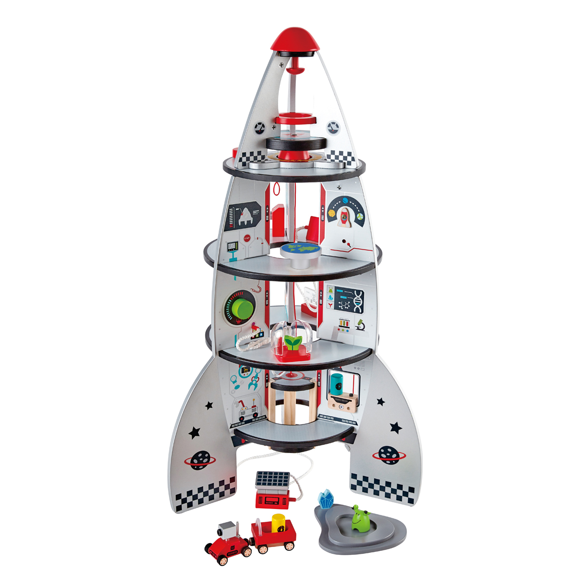 Hape Four Stage Rocket Ship Toy