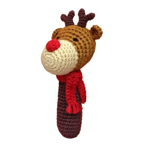 Cheengoo Holiday Reindeer Rattle