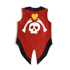 Lovelane Pirate Vest with Skull and Cross Bones
