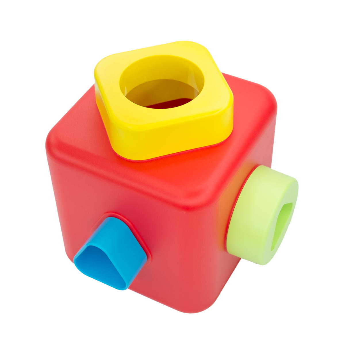 Bioserie Shape Sorting Stacking Cube