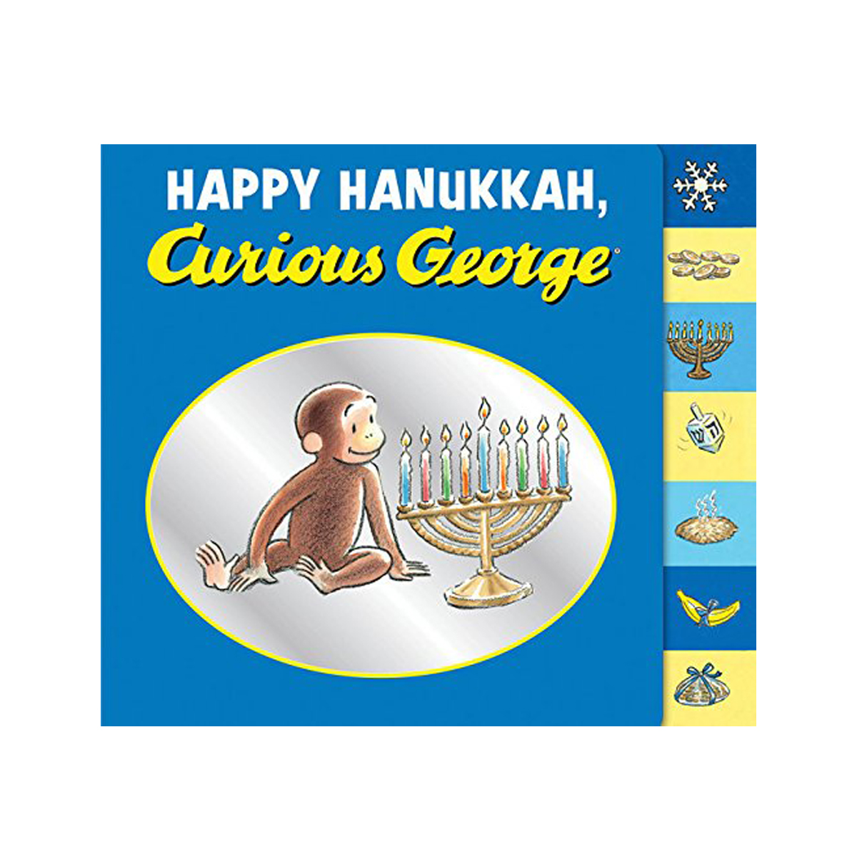 Tiny Bee Gift Co Happy Hanukkah, Curious George