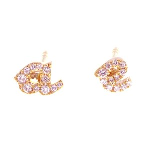 Sue gragg personalized diamond earrings in rose gold