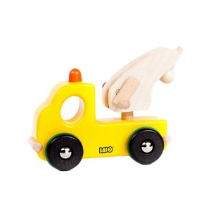 Bajo Wooden Yellow Tow Truck Toy