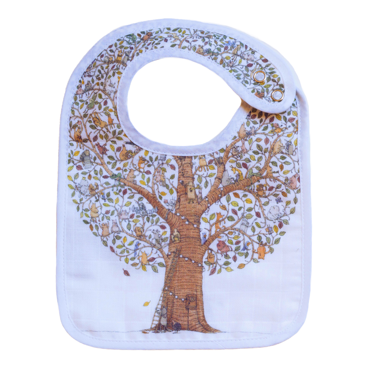 Atelier Choux Small Bib - friends and family tree