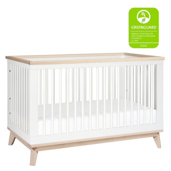 Babyletto Scoot 3-in-1 Convertible Crib White Washed Natural AW19