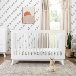 Scoot 3-in-1 Convertible Crib With Toddler Bed Conversion Kit in White